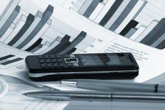technologie de téléphone de cahier d'affaires photographie stock