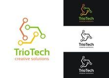 Technologie de trio Image stock