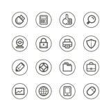 Technologie de Web et icônes de media Images libres de droits
