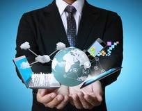 Technologie in den Händen lizenzfreies stockfoto