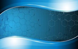 Technologie der abstrakten Wissenschaft und glatter glänzender Rahmen