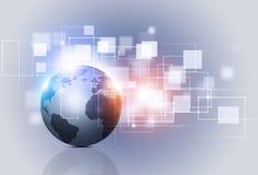 Technologie des abstrakten Begriffs und Geschäfts-Hintergrund Lizenzfreie Stockfotografie