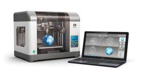 Technologie des Drucken 3d Lizenzfreie Stockfotos