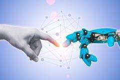Technologie des Roboters oder der Robotertechnik stockbilder