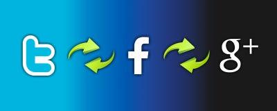 Technologie des Sozialen Netzes stock abbildung