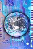 Technologie die de wereld bereikt Royalty-vrije Stock Foto