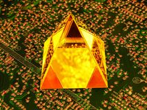 Technologie dla produkcji mikroprocesory przyszłość obraz royalty free