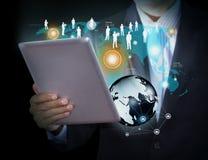 Technologie du sans fil et media social image libre de droits
