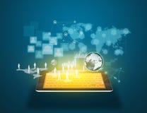 Technologie du sans fil et media social illustration libre de droits