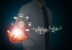 Technologie du sans fil et media social Images libres de droits