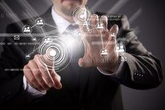 Technologie du sans fil moderne et media social Photographie stock libre de droits