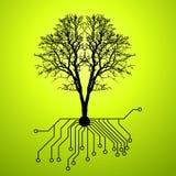 Technologie en aardsynthese stock illustratie
