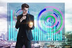 Technologie en analyticsconcept Stock Afbeeldingen