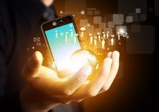 Technologie en bedrijfsconcept Stock Afbeeldingen