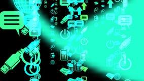 Technologie en Communicatie Animatie royalty-vrije illustratie