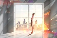 Technologie en cyberspace concept royalty-vrije stock afbeelding