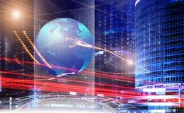 Technologie en datacommunicaties royalty-vrije illustratie