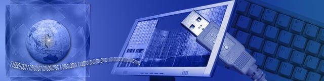 Technologie en e-business wereldwijd vector illustratie