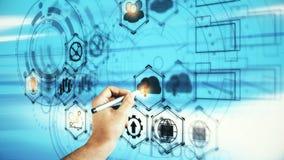 Technologie en financiënconcept Stock Afbeeldingen