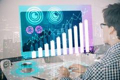 Technologie en financiënconcept Royalty-vrije Stock Afbeeldingen