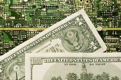 Technologie en geld Stock Foto's