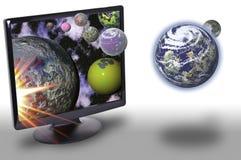 Technologie en het heelal royalty-vrije stock foto