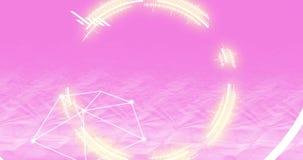 Technologie en innovatie op roze achtergrond Kunstmatige intelligentie 4K Moderne animatie van informatie Bewegende cijfers en Di stock video