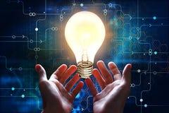 technologie en innovatieconcept Stock Afbeelding