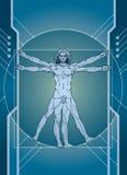 Technologie en Mens royalty-vrije illustratie