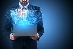 Technologie en mondiaal net Royalty-vrije Stock Afbeelding