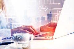 Technologie en Netwerkconcept Royalty-vrije Stock Afbeelding