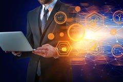 Technologie en Netwerkconcept Royalty-vrije Stock Foto