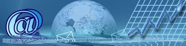 Technologie en Stijgend succes stock illustratie