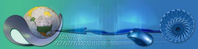 Technologie en toegang tot de wereld van Internet royalty-vrije illustratie