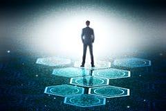 Technologie en toekomstig concept Stock Foto's