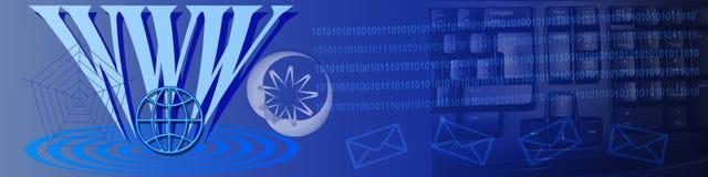 Technologie en Ww- mededeling vector illustratie