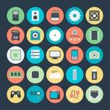Technologie et icônes 1 de vecteur colorées par matériel illustration de vecteur