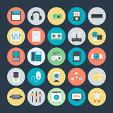 Technologie et icônes 2 de vecteur colorées par matériel illustration de vecteur