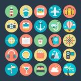 Technologie et icônes 2 de vecteur colorées par matériel illustration libre de droits