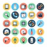 Technologie et illustration de vecteur du matériel 3 illustration stock