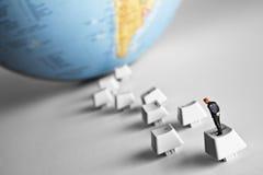 Technologie führt zu Weltwissen Lizenzfreies Stockfoto