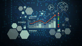 Technologie für elektrischen Leiterplattehintergrund Stockfoto