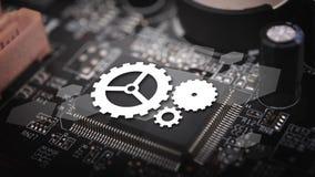 Technologie für elektrischen Leiterplattehintergrund Lizenzfreie Stockfotografie