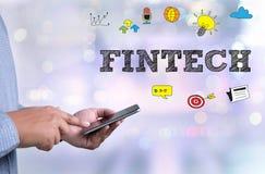 Technologie financière d'Internet d'investissement de FINTECH Photographie stock libre de droits