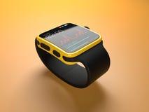 Technologie futée de montre avec des applications de traqueur de forme physique de sport Photographie stock