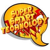 Technologie futée superbe - mots de style de bande dessinée illustration stock