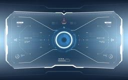Technologie futuriste HUD Screen de la science fiction illustration stock