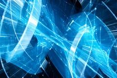 Technologie futuriste rougeoyante de bleu et grandes données dans le mouvement illustration libre de droits