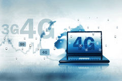 Technologie 4G sans fil Photo libre de droits
