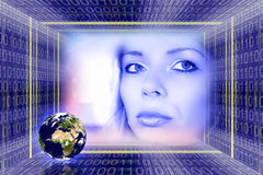 Technologie global da informação Fotografia de Stock Royalty Free